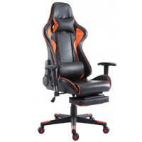 Costway Gaming Chair High Back Racing Recliner Office Chair w/Lumbar Support & Footrest