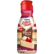 COFFEE MATE THE CHEESECAKE FACTORY AT HOME Strawberry Cheesecake Coffee Creamer 32 oz. Bottle