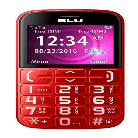 BLU Joy J010 Unlocked GSM Senior Friendly Phone - Red