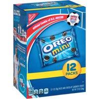 (2 Pack) Nabisco Mini Oreo Chocolate Sandwich Cookies Munch Packs, 12 oz