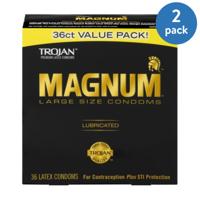 (2 Pack) MAGNUM Large Size Condoms, 36ct