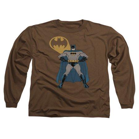 Batman DC Comics Arms Akimbo Bats Adult Long Sleeve T-Shirt Tee