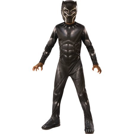 Marvel Black Panther Child Deluxe Boys Halloween Costume (Funny Halloween Costumes 2017 Uk)