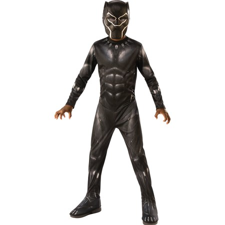 Marvel Black Panther Child Deluxe Boys Halloween Costume (Halloween Costume Katniss Everdeen)