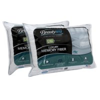 Beautyrest Luxury 233TC Memory Fiber Pillow Set of 2, Multiple Sizes