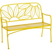 Mainstays Hello Sunny Outdoor Patio Bench, Yellow