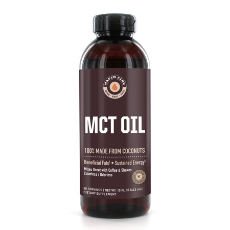Rapid Fire MCT Oil Dietary Supplement, 16 Fl Oz, 30 Servings (Mct Oil)
