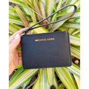 398eb3d56b32a0 Michael Kors Jet Set Travel Coin Wallet Wristlet ID Card Holder Black