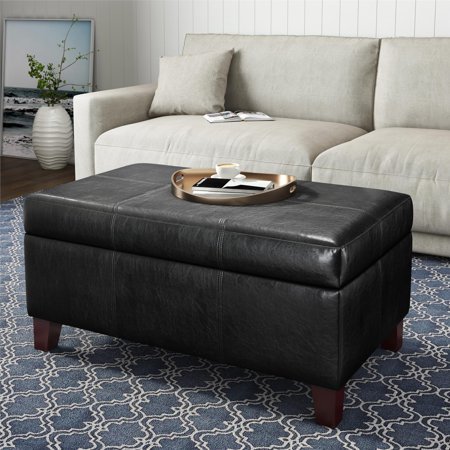Dorel Living Rectangular Storage Ottoman, Multiple Colors 3 Piece Living Room Ottoman