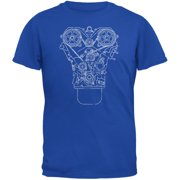 Engine Schematic Royal Youth T-Shirt