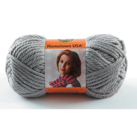 - Lion Brand Yarns Hometown USA Acrylic Dallas Grey Yarn, 1 Each