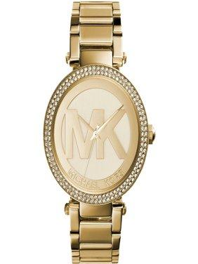 Parker Logo Glitz Gold-Tone Women's Watch, MK5784