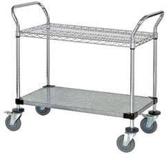 Chrome Open Base Utility Cart - 18