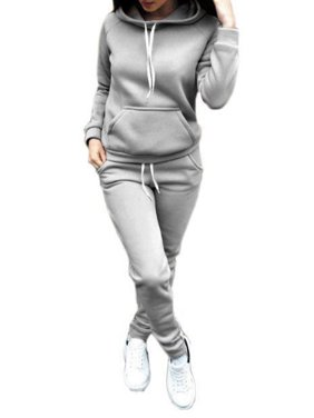 Sweetsmile Women Autumn Winter Long Sleeve Hoodies Sweatshirts Suit 2PCS Casual Tracksuit Pullover Tops+ Pants Sports Sets Clearance Hot
