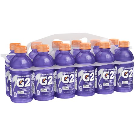 G2 Thirst Quencher Low Calorie Sports Drink, Grape, 12 Fl Oz, 12 Count ()