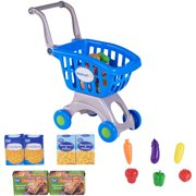 Spark. create. image shopping cart & food play set, blue, designed for ages 2 and up