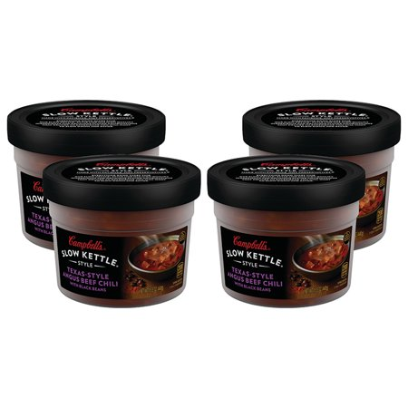 (3 Pack) Campbell'sàSlow Kettle Style Texas-Style Angus Beef Chili with Black Beans, 15.5 oz. Tub Canned White Bean Soup
