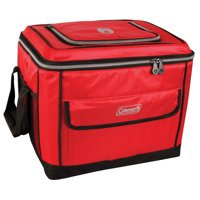 Coleman 40-Can Collapsible Soft Cooler, Red