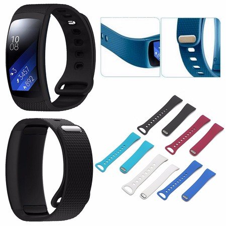 Adjustable Replacement Soft Silicone Wristband Watch Band Strap For Samsung Gear Fit 2