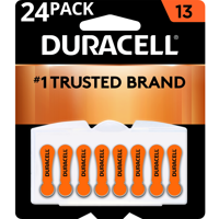 Duracell Hearing Aid Batteries with Easy-Fit Tab Size 13 24 Pack