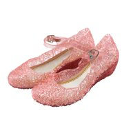 d6b8e15072fb Kids Girls Casual Jelly Hollow Sandals Wedge Heel Shoes Color:Pink Size:EUR  28