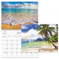 "2019 Seascapes Wall Calendar - 12"" x 9"" (closed), bookstore quality, spiral bound"