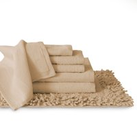 100% Cotton 7-Piece Towel and Bath Rug Set Collection, Dyed to Match