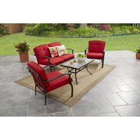Mainstays Belden Park 4-Piece Outdoor Sofa Set, Seats 4
