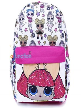 LOL Surprise Large School Backpack All Over Print White 16""