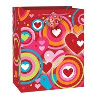Large Retro Hearts Valentine Gift Bag