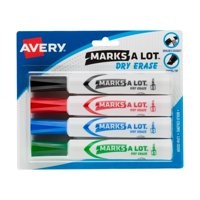 Avery® Marks-A-Lot® Desk-Style Dry Erase Markers, Chisel Tip, Assorted Colors, 4 Markers (24409)