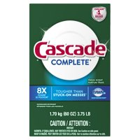 Cascade Complete Powder Dishwasher Detergent, Fresh Scent, 60 ounces