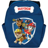 """Personalized Paw Patrol Ready for Adventure Blue 14""""W x 19""""H Youth Boy Backpack"""
