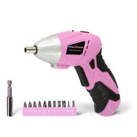 Pink Power PP481 3.6 Volt Cordless Electric Screwdriver and Bit Set for Women