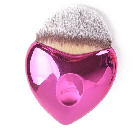 Top Quality Heart Shaped Cosmetics Applicator Brush -Cerise (Cerise Heart)