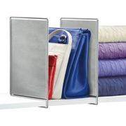 Lynk Vela Shelf Dividers, Closet Shelf Organizer (Set of 2), Platinum