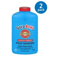 (2 Pack) Gold Bond Maximum Strength Medicated Foot Powder , 10 oz