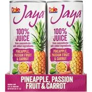 (6 Pack) Dole Jaya 100% Pineapple, Passion Fruit & Carrot Juice 4-8.4 fl. oz. Cans