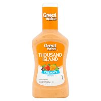 (4 Pack) Great Value Thousand Island Dressing & Dip, 16 Oz