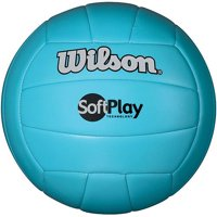 Wilson Official Size and Weight Soft Play Outdoor Volleyball, Blue