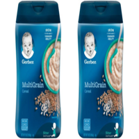 (2 Pack) GERBER Multigrain Baby Cereal, 16 oz