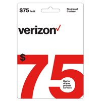 Verizon Wireless $75 Prepaid Refill Card (Email Delivery)