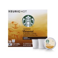 Starbucks Caramel Flavored Medium Roast Single Cup Coffee for Keurig Brewers, 1 Box of 16 (16 Total K-Cup Pods)