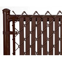 Brown 6ft Tube Slat for Chain Link Fence