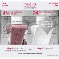 essie Gel Couture Nail Polish + Top Coat Kit (Nudes), Take Me To Thread + Top Coat, 2 count