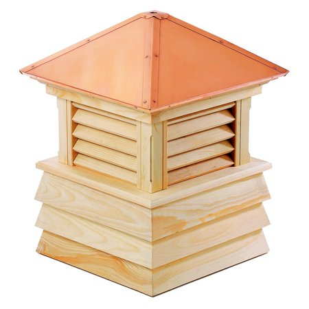 Cupola Copper Roof - Good Directions Dover Wood Shiplap Cupola with Copper Roof - 18
