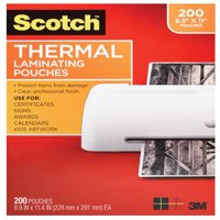 Scotch Thermal Laminating Pouches 200 Count, Letter Size Sheets
