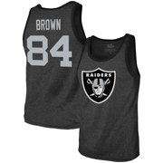 4a43122c0a0 Antonio Brown Oakland Raiders Majestic Threads Player Name   Number  Tri-Blend Tank Top -