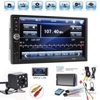 """2 Din 7"""" Touch Screen Bluetooth Car MP5 Video Player FM Radio Audio Stereo Car Video Player+HD Camera"""
