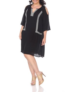 Women's Plus Size Cold Shoulder Short Dress